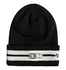DC SHOES MENS BEANIE HAT.STRIPE TAMER BLACK WOOLLY ACRYLIC KNITTE CAP 8W 79 KVJO
