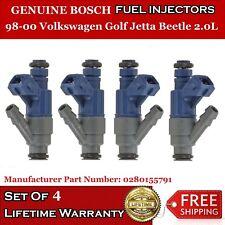 4x Genuine Bosch Fuel Injectors for 98-00 Volkswagen Golf Jetta Beetle 2.0L