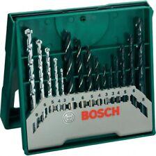 BOSCH 2607019675 15 teilig 5x Holz Stein Metall Universal Uni Bohrer Set NEU OVP