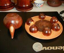 海南黄花梨西部油梨8件小摆件 红木艺术品收藏hainan Huanghuali unique Tea Set Cups dish Chinese artwork