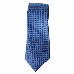 MICHAEL KORS Mens Neck Tie 100% Silk Small Stitch Neat Tie Blue $69 - NWT