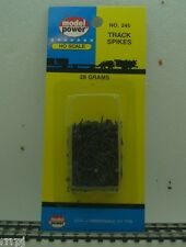 MODEL POWER #245 SHORT TRACK SPIKES, Track Nails for HO or N Scale Track