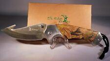 ELK RIDGE Spring Assisted Open CAMO Folding Hunting Camping Pocket Knife