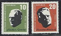 DDR #Mi604-Mi605 MNH CV€1.60 1957 Ramin Abendroth [375-376][STOCK IMAGE]