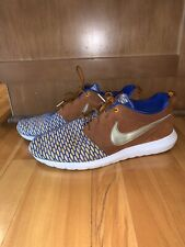 NIKE ROSHE NM FLYKNIT PREMIUM GAME Blue & METALLIC GOLD Size 12 Sold Out