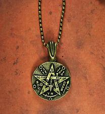 Double-sided Tetragrammaton Necklace - Brass Finish Kabbalah Tree of Life