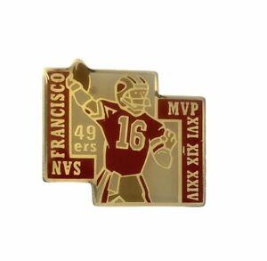 Joe Montana 1991 San Francisco 49ers MVP Vintage Lapel PIN