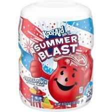 NEW KOOL-AID SUMMER BLAST TROPICAL PUNCH FLAVORED DRINK MIX 19 OZ MAKES 8 QUARTS