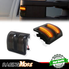 Smoked Lens For 2013 2014 Ford F-150 LED Side Mirror Marker Lights