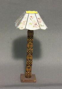 Dollhouse Miniature 1:12 Floor Lamp #3 (SquareScalloped Lamp Shade)