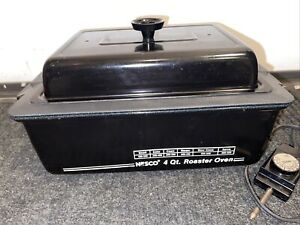 Vintage Nesco 4 Qt. Quart Roaster Oven with Removable Non-Stick Pan Black