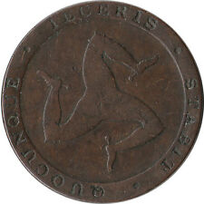1831 Isle of Man 1/2 Penny Token Coinage KM#Tn21