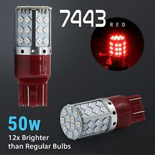 2018 7443/7440 50W Red High Power Turn Signal Blinker Corner Light Bulbs Lamps