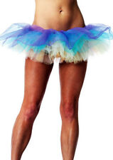 Multi Layered Pastel Rainbow Tutu Tulle Skirt Dance Ballerina Halloween Costume