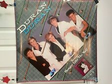 Vintage Duran Duran Rio poster Hungry Like the Wolf promo New Wave 1982 square