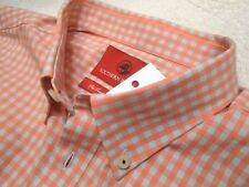 Southern Proper Stretch Cotton Bruno Orange Gray Gingham Sport Shirt NWT XL $98