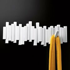 Umbra STICKS MULTI HOOK - Wall COAT RACK with 5 Hooks - WHITE