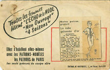 Vintage La Bata galonnée D'or francés patrón de costura g163 tamaño 44