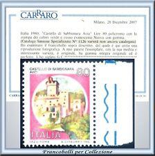 Repubblica Castelli L. 80 Varietà Naturale Certificato