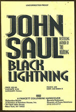 Black Lightning by John Saul-First Edition-1995-Uncorrected Proof