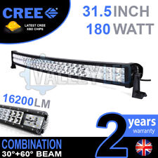 "32 INCH 32"" CURVED COMBO 180W CREE LED LIGHT BAR DEFENDER NEVARA JEEP L200 HILUX"