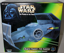 Star Wars Potf W/Launching Laser Cannons Darth Vader'S Tie Fighter 1996 Mib.