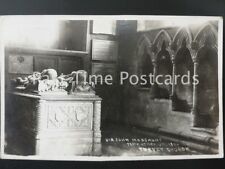 Bedfordshire TURVEY CHURCH -Sir John Mordaunt Temp Henry Vll c1930's RP Postcard