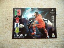 Panini Adrenalyn XL Champions League iker casillas Limited Edition 2012 2013