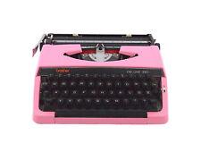 Brother Deluxe 220 typewriter, pink typewriter, working portable typewriter.
