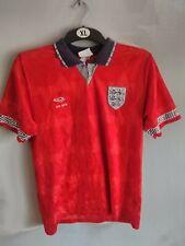 Umbro Inglaterra Copa Mundial Italia 1990 Camiseta De Fútbol Lejos de tamaño 34-36 adultos (S)
