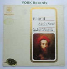 75372-BLOCH-service SACRE Bernstein New York Philharmonic Orc-EX LP record