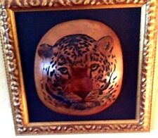 "Original Gourds,4 Hand Carved &  Framed ""A Link to Africa"" by  Frederick G. Link"