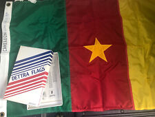 2' x 3' 1970's Vintage Duralite Cameroon Dettra Flag -Made in USA- NIB