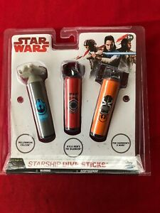 Disney's Star Wars 3-D Dive Sticks Falcon/Silencer & X-Wing Grey Orange Red