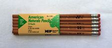 12 Vintage Eberhard Faber American Naturals No.2/HB Pencils - Made in USA 🇺🇸