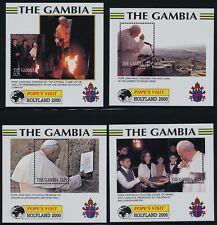 Gambia 2229-36 MNH Pope John Paul II, Papal Visits