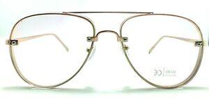 "Aviator ""BLUE LIGHT "" Metal Frames Clear Eyeglasses SHADZ GAFAS 100UV PROTECTION"