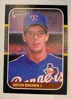 1987 Donruss Kevin Brown #627 - Rookie Card (RC) - Texas Rangers - NM