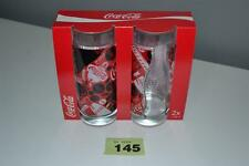 Brand New Pair Of Coca Cola Glasses Party Christmas Halloween Boxed **145 Two 2