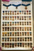 U.S. Armed Forces Decorations and Medals Poster (1997 - 1998)