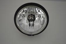 """6"""" Headlight Matte Black Steel Bottom Mount for Harley Sportster Dyna Cruiser"""