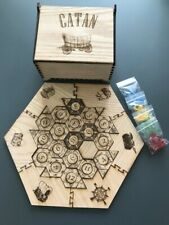 Laser Engraved Wooden Settlers of Catan Hex Game Board