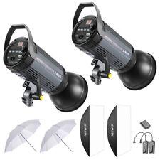 Neewer 600W Studio Strobe Flash Photography Lighting Kit with (2)300W Monolight