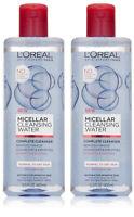 L'Oreal Paris, Micellar, Cleansing Water, Facial Cleanser & Makeup Remover, 2 Pk