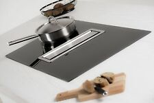 Luna Flow In Stainless Steel Recirculating Counter Cooker Hood & Induction Hob