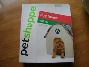 Petshoppe Dog House With Soft Toy 16 in x 17 in x 18.5 in For Small Dogs Fabric