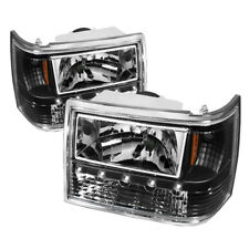 Jeep 93-98 Grand Cherokee Black Replacement LED Headlights + Bumper Corner 1pc