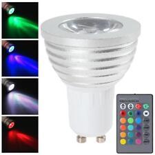 1 AMPOULE LED + TELECOMMANDE GU10 220V 9W ECLAIRAGE DECORATION 16 COULEURS RGB