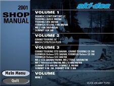 2001 SkiDoo Skandic Touring Formula MX MACH MINI Z Summit  ALL Shop Manual on CD