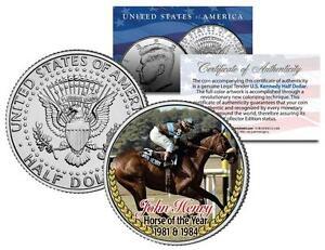 JOHN HENRY *1981 1984 Horse of the Year* Thoroughbred Race JFK Half Dollar Coin